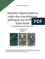 Mémoire - Verdissement - Comité des citoyens de Saint-Roch