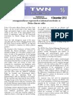 Third World Network – Doha Update #16