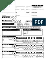 Star Wars D6 - Ship Sheet