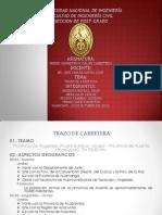 DISEÑO GEOMETRICO VIAL DE CARRETERAS - UNI