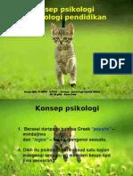 Konsep Psikologi & Psikologi Pendidikan