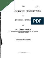 Scholz - 1880 - Die Alexandrinische U_bersetzung Des Buches Jesaia