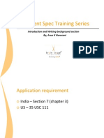 Patent Specification Drafting Series