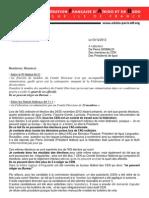Lettre de Maurice Vo Van suite a l'AG FFAB des  25-26/11/2012