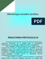 Redactarea protocolului