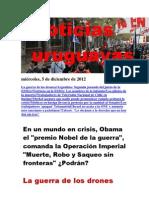 Noticias Uruguayas miércoles 5 de diciembre del 2012