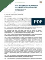 Reglamento de Regimen Disciplinario de Abogados en Patrocinio Causas