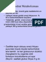 Karbohidrat Metabolizmas Aks (Prof. Dr. Sabahattin Muhtaroğlu)