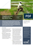 Irrigation and water use efficiency in Sub-Saharan Africa