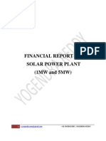 FINANCIAL REPORT ON power plant (5 and 1 MW)