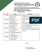 11. Jadwal Piket Pegawai Tata Usaha