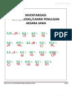 Inventarisasi Gaya Penulisan Aksara Jawa
