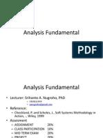 Analysis Fundamental