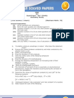 CBSE 2011 XII Chemistry 2011 Questions