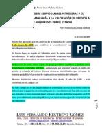 Articulo Sobre La LEY de Servidumbre en Hidrocarburos