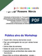 workshop de tecnicas vocais