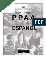 Folleto Informativo sobre las PPAA 3ro Español