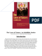 The Laws of Nature an Infallible Justice