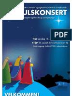 Plakat Julekonsert 2012E