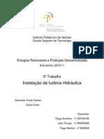 Instalação de turbina Hidráulica