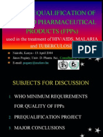 WHO - WHO Prequalification of Finished Pharmaceutical Products - Slides