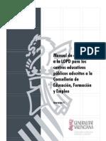 Manual adecuación a la LOPD para centros educati