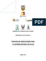 Tarifario Prestaciones Sistema Nacional