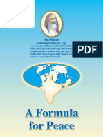 A Formula for Peace Brochure