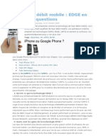 Haut débit mobile  EDGE en six questions