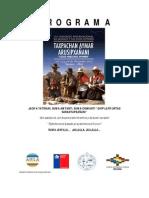 Programa VIII Congreso de Lengua y Cultura Aymara (Iquique)