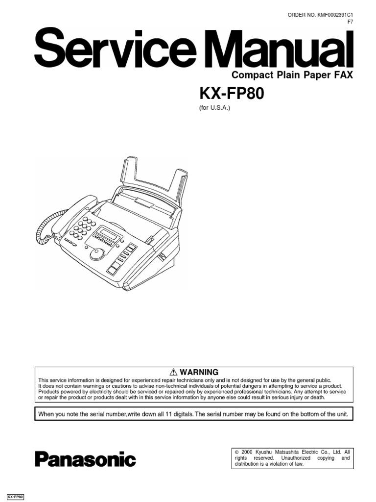 Panasonic Kx Manuals