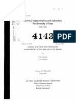 Antenna and Radio Wave Propagation Characteractics At VHF Near and In The Ground by D. M. Schwartz and A. H. LaGrone (The University of Texas), 06-1963.