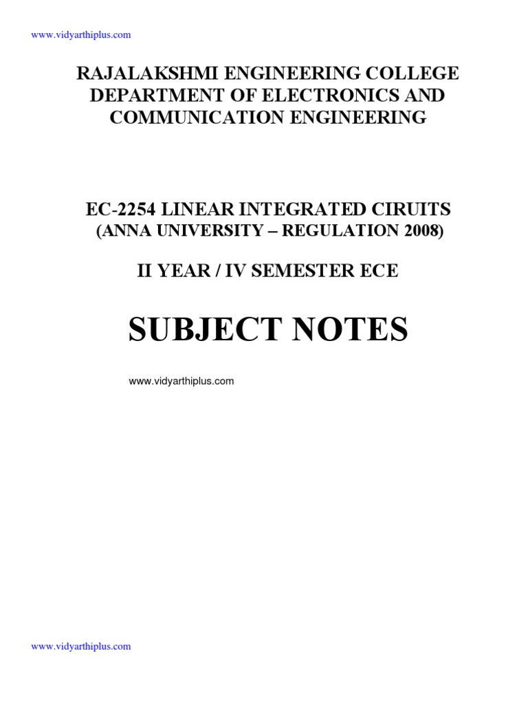 Ec 2254 Linear Integrated Circuits Circuit Bipolar Voltage Regulator Equivalent Analogcircuit Basiccircuit Junction Transistor