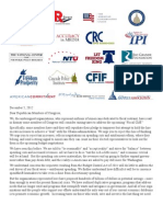 Coalition Letter on Fiscal Cliff