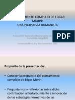 Pensamiento complejo y propuesta humanista (versión b)