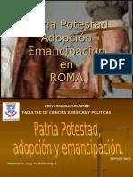 patria potestad emancipacion y adopcion