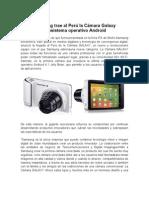 Samsung trae al Perú la Cámara Galaxy con sistema operativo Android