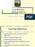 Cost Behavior by Mr. Francisco D. Esponilla II