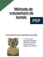 Méthodes de creusement de tunnel