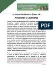Pronunciamiento a favor de Amazonas y Cajamarca