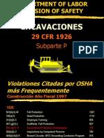 29 CFR 1926 Excavaciones
