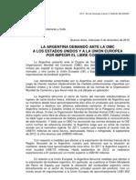 El documento de la Cancillería argentina