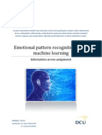 Emotional pattern recognition using machine learning