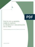 103820368 Libro Efecto de La Mineria Sobre El Empleo El Producto y Recaudacion en El Peru