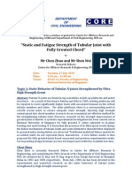 ABSTRACT - Static and Fatigue Strength of Tubular Joint with Fully Grouted Chord