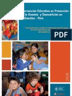 PMA - Proyecto educativo nutricional - Pachacutec