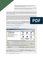 Creating and Consuming a Web Service Using Visual Studio