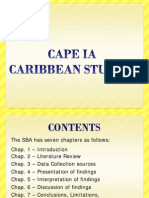 CAPE Caribbean Studies IA Guide