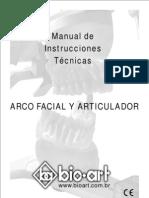 Manual de Instrucciones Tecnicas Arco facial y Articulador