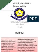 Etiologi & Klasifikasi Osteomielitis-letta 10084